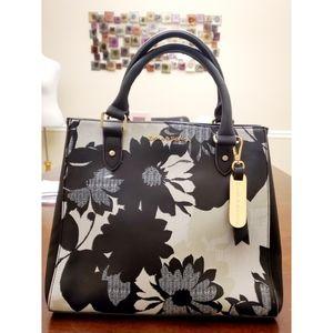 Emma & Sophia Black/White/Cream Handbag